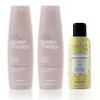 AlfaParf Lisse Design Keratin Therapy Maintenance Shampoo + Conditioner + Free Thermal Protector Combo