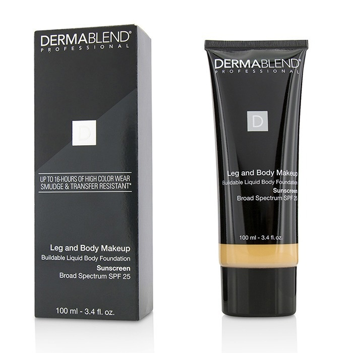 Dermablend Leg and Body Makeup Buildable Liquid Body Foundation Sunscreen Broad Spectrum SPF 25 - #Light Sand 25W