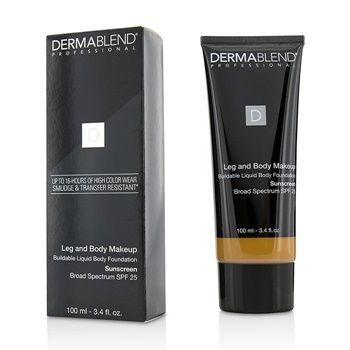 Dermablend Leg and Body Makeup Buildable Liquid Body Foundation Sunscreen Broad Spectrum SPF 25 - #Tan Golden 65N