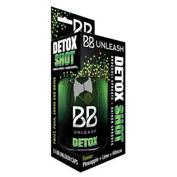 BB Unleash Detox Shot x 5 caps plus bottle