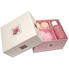 Clover Fields Gift Box Petite Rose Set (contains: sponge, shower gel & 2 x rose soap)