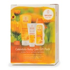 Weleda Baby Calendula Care Gift Pack (Shampoo & Body Wash, Nappy Change Cream & Body Lotion)