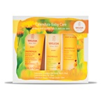 Weleda Baby Calendula Care Starter Pack (Trial Size Shampoo Body Wash, Calendula Oil & Nappy Cream)