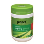 Planet Organic Organic Super 3 Greens (Barley Grass + Spirulina + Chlorella) Powder