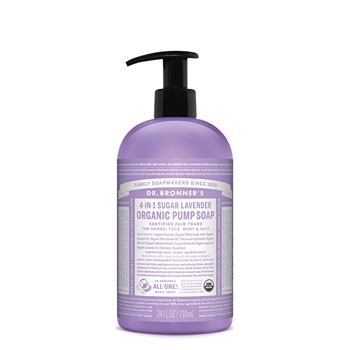 Dr. Bronner's Organic Pump Soap (Sugar 4-in-1) Lavender