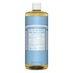 Dr. Bronner's Pure-Castile Soap Liquid Baby Unscented