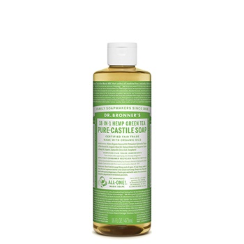 Dr. Bronner's Pure-Castile Soap Liquid (Hemp 18-in-1) Green Tea