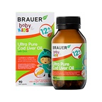 Brauer Baby & Kids Ultra Pure Cod Liver Oil with DHA (12+ months)