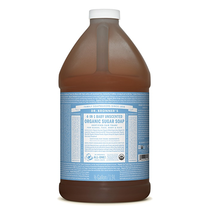 Dr. Bronner's Organic Pump Soap Refill (Sugar 4-in-1) Baby Unscented