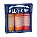 Dr. Bronner's Pure-Castile Soap Liquid Summer Lovin' x 3 Pack (Citrus, Rose & Tea Tree)