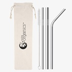 Nutra Organics Metal Straw Set x