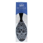 Wet Brush Sugar Skull Hair Brush - White Black