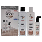 Nioxin System 3 Colored Hair Light Thinning Kit 10.1oz Color Safe Cleanser Shampoo, 10.1 oz Color Safe Scalp Therapy Conditioner, 3.38oz Color Safe Scalp and Hair Treatment
