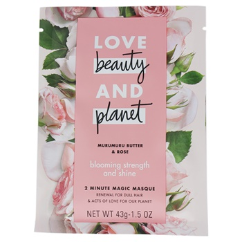 Love Beauty and Planet Murumuru Butter and Rose 2 Minute Magic Masque