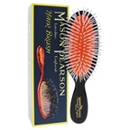 Mason Pearson Pocket Nylon Brush - N4 Dark Ruby Hair Brush and Cleaning Brush
