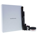 BareMinerals Eye Club Natural Born Beauty Set 0.02oz Eyecolor - Velvet Mauve, Round The Clock Intense Cream-Glide Eyeliner Waterproof, Expert Shadow and Liner Brush, Sharpener