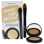 BareMinerals Ready Set Correct Well-Rested Cream & Brush 0.08oz Well-Rested Cream Color Corrector - Maximum Coverage Concealer Brush