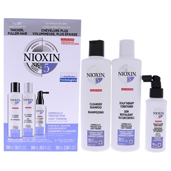 Nioxin System 5 Kit 10.1oz Cleanser Shampoo, 10.1oz Scalp Therapy Conditioner, 3.38oz Scalp and Hair Treatment