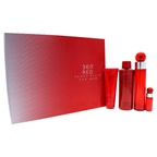 Perry Ellis 360 Red 3.4oz EDT Spray, 0.25oz EDT Spray, 6.8oz Deodorizing Body Spray, 3oz Shower Gel