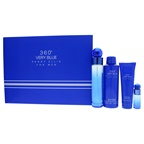 Perry Ellis 360 Very Blue 3.4oz EDT Spray, 7.5ml EDT Spray, 6.8oz Body Spray, 3oz Shower Gel