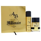 Lomani AB Spirit Millionaire 3.4oz EDT Spray, 6.8oz Deodorant Spray