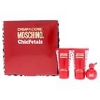 Moschino Cheap And Chic Chic Petals 4.9ml EDT Splash, 0.8oz Shower Gel, 0.8oz Body Lotion