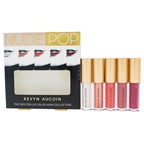 Kevyn Aucoin Nude Pop The Molten Lip Color Mini Collection Lip Color Cyber Opal, Rose Gold, Poppy Topaz, Matte Tori, Matte Dolly