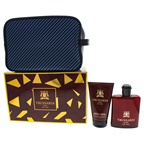 Trussardi Uomo The Red 3.4oz EDT Spray, 3.4oz Shampoo anad Shower Gel, Washbag