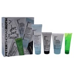 Peter Thomas Roth Jet Set Facial 0.5oz Firmx Peeling Gel, 0.47oz Cucumber Gel Mask Extreme De-Tox Hydrator, 1oz Water Drench Cloud Cream Cleanser, 0.67oz Water Drench Hylauronic Cloud Cream Hydrating Moisturizer