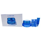 Laneige Water Bank Gel Cream Set 1.7 Gel Cream, 0.5oz Essential Power Skin Refiner Moisture, 0.5oz Essential Balancing Emulsion Moisture, 0.10oz Water Bank Eye Gel