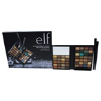 e.l.f. 48 Color Beauty Clutch Eyeshadow Set Little Black Beauty Book in Warm, Smudge Brush, Eye Shadow Brush