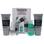 Anthony The Essential Traveler Kit 2oz Glycolic Facial Cleanser, 3.4oz Body Wash, 3oz Shave Cream, 3oz Moisturizer, 0.25oz Lip Balm