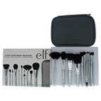e.l.f. Silver Brush Collection Eyeshadow C Brush, Eyebrow Duo Brush, Blending Brush, Small Angled Brush, Small Precision Brush, Crease Brush, Complexion Brush, Fan Brush, Powder Brush, Flawless Concealer Bru