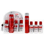 CHI Shine and Moisture On The Go Styling Kit 2.6oz Infra Texture Dual Action Hair Spray, 2.6oz Infra Shampoo, 2oz Infra Thermal Protective Treatment, 2oz Silk Infusion Reconstructing Complex