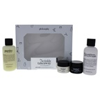 Philosophy The Wrinkle Takeaway Kit 4oz One-Step Facial Cleanser, 4oz The Microdelivery Exfoliating Daily Facial Wash, 0.5oz Anti-Wrinkle Miracle Worker Plus Line-Correcting Overnight Cream, 0.5oz Anti-Wrinkle M