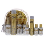 CHI Strengthen and Revive On The Go Styling Kit 2oz Keratin Shampoo, 2oz Keratin Conditioner, 2oz Keratin Leave-In Conditioner, 2.6oz Keratin Flex Finish Hair Spray