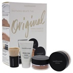BareMinerals Nothing Beats the Original Mineral Foundation - 18 Medium Tan 0.5oz Prime Time Original Foundation Primer, 0.07oz Original Foundation SPF 15, 0.1oz Mineral Veil Finishing Powder, Medium Beautiful Fini