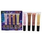 Kevyn Aucoin Jewel Pop Glass Glow Mini Lip Collection Brilliant Glass, Prism Rose, Gold Beam, Spectrum Bronze