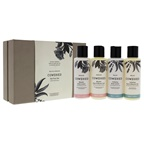 Cowshed Relax and Indulge Fab Four Set Relax Calming Bath and Shower Gel, Relax Calming Body Lotion, Indulge Blissful Bath and Shower Gel, Indulge Blissful Body Lotion