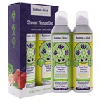 Human+Kind Shower Mousse Duo Shower Mousse - Grapefruit Delight, Shower Mousse - Tropical Splash
