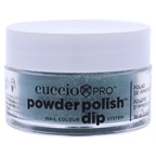 Cuccio Pro Powder Polish Nail Colour Dip System - Green Glitter with Blue Undertones Nail Powder