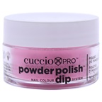 Cuccio Pro Powder Polish Nail Colour Dip System - Bright Pink with Gold Mica Nail Powder