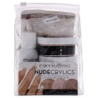 Cuccio Pro Nudecrylics Cover Powder Kit 3 x 1.6oz Nudecrylics Color Powders - Dolll Tan, Sunkissed, Cooper Tan, 0.07oz Primer Pen, 0.07oz Instant Nail Glue, 0.07oz Ultra Clear Monomer, 20pc High C Curve Tips Ass