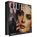 Guess Beauty Eye Lookbook - 101 Nude 0.14oz Volumizing Black Mascara, 0.48oz Eye Shadow, 0.017oz Soft Kohl Black Eyeliner