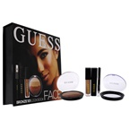Guess Beauty Face Lookbook - 101 Bronze 0.25oz Eye Shadow, 0.14oz Volumizing Black Mascara, 0.14oz Matte Liquid Lipstick, 0.017oz Soft Kohl Black Eyeliner