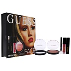 Guess Beauty Face Lookbook - 101 Peach 0.25oz Eye Shadow, 0.14oz Volumizing Black Mascara, 0.14oz Matte Liquid Lipstick, 0.017oz Soft Kohl Black Eyeliner