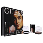 Guess Beauty Face Lookbook - 101 Nude 0.25oz Eye Shadow, 0.14oz Volumizing Black Mascara, 0.14oz Matte Liquid Lipstick, 0.017oz Soft Kohl Black Eyeliner