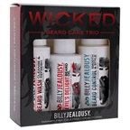 Billy Jealousy Wicked Beard Trio Kit 2oz Beard Wash Cleanse and Refresh, 2oz Beard Control Smooth and Style, 2oz Devils Delight Beard Oil
