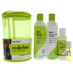DevaCurl Spring Curly Kit 8oz No Poo Original, 8oz One Condition Original, 3oz Styling Cream, 0.17oz High Shine