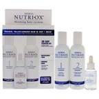 Nutri-Ox Noticeably Thin Normal Hair Starter Kit 6oz Shampoo Normal, 6oz Conditioner Normal, 1.5oz Treatment for First Signs Noticeably Thin Normal